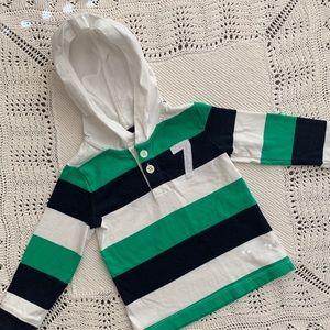 OshKosh B'gosh Striped Long Sleeve Shirt With Hood